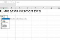Rumus Dasar Microsoft Excel